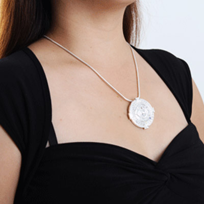 silver jewellery pendant